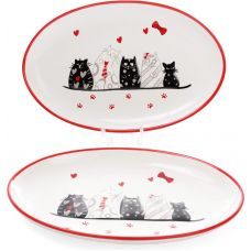 Блюдо керамическое I Love My Cat 28.6х18.2см овальное
