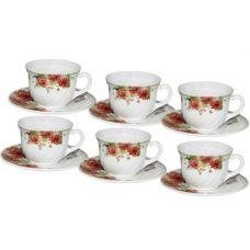 Набор чашек для чая Роза 190мл на 6 персон