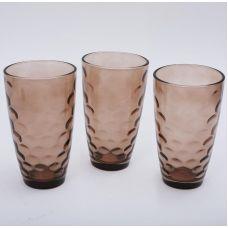 Набор 3 стакана Эмилия-35 коричневые 425мл