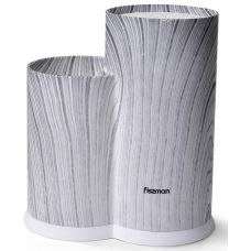 Подставка-колода Fissman Graphite для кухонных ножей и ножниц 23х11х11см, двойная