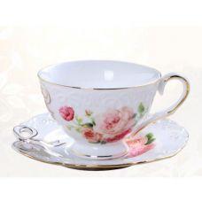 Чайная пара Бант чашка 220мл с блюдцем