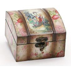 Деревянная шкатулка Адель Восточный Мотив Розы (глянец), 11.5x12.5x8см