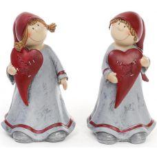 Фигурка декоративная Девочка с сердцем 19см