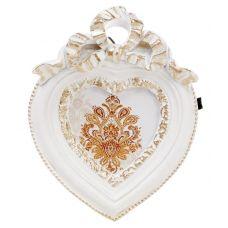 Фоторамка Animos Белое Сердце украшение-подвеска 9.7х12.5см