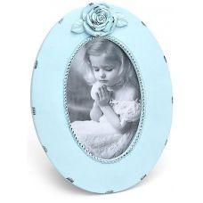 Рамка Tudor Шебби Шик Флорина овальная 21.5х16.5см, голубая