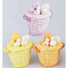 "Корзина для яиц ""Цыплята"" декоративная из керамики 16см"