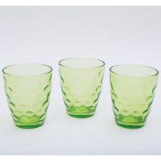 Набор 3 стакана Эмилия-27 зеленые 350мл