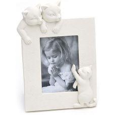 Фоторамка BabyRoom Котики для фото 10х15см (белая)