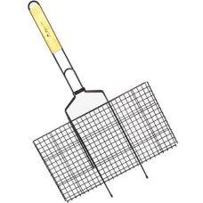 Решетка для барбекю Kamille Скаут с антипригарным покрытием 46х25.5х2см