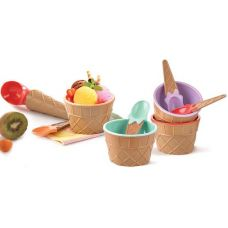 Набор для мороженого Qlux 4 предмета, пластик