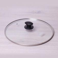 Крышка Kamille Ø32см из жаропрочного стекла с бакелитовой ручкой