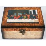 Набор из двух деревянных шкатулок Живопись Тайная вечеря, 20x16,5x9см и 18x14,5x7см