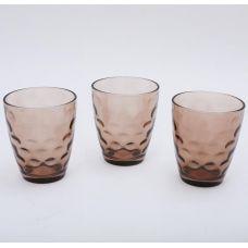 Набор 3 стакана Эмилия-28 коричневые 350мл