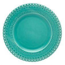 Набор 4 столовых тарелки Bordallo Pinheiro Fantasia Ø29см Бирюза