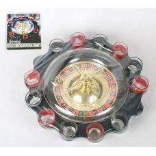 Игра настольная Рулетка питейная с куполом 30см (в наборе 12 стопок)