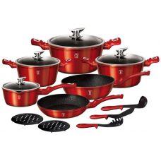 Набор кухонной посуды Berlinger Haus Burgundy 15 предметов