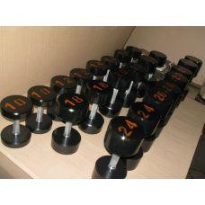 Гантельный ряд крашенный 10 - 30 кг