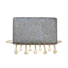 Блестящая серебристая сумка кроссбоди