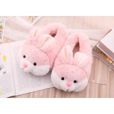 Детские домашние тапочки игрушки Зайки, 33-35