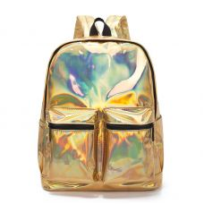 Голограммный рюкзак золото