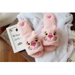 Тапочки Розовая пантера открытые, 38-39, стелька 25.5 см