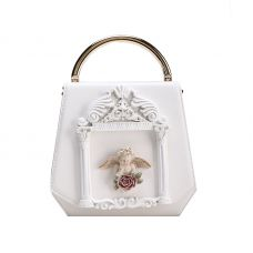 Белая сумка с ангелком