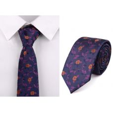 Галстук фиолетовый с цветами