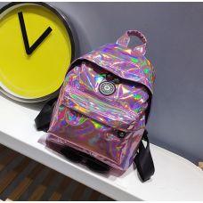 Голограммный рюкзак небольшой розовый