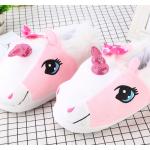 Тапочки-кигуруми бело-розовые Единороги