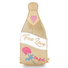 """Золотая сумка в виде бутылки шампанского """"True love"""""""