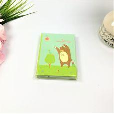 Записная книжка с ручкой медведь
