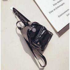 Голограммный рюкзак небольшой черный
