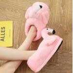 Тапочки-игрушки Фламинго закрытые