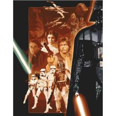 Картина по номерам. Star wars