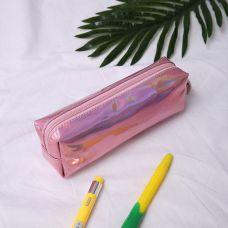 Пенал голограммный светло-розовый
