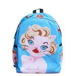 Голубой рюкзак Мэрилин Монро с котейкой