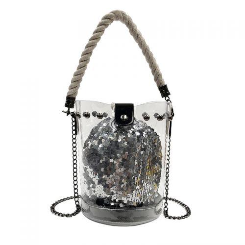 49c5c489902c Прозрачная сумка с серебристым мешочком из паеток Китай Сумки ...