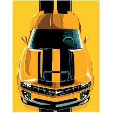 Картина по номерам. Chevrolet Camaro в коробке