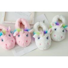 Детские домашние тапочки игрушки Единороги, 33-35