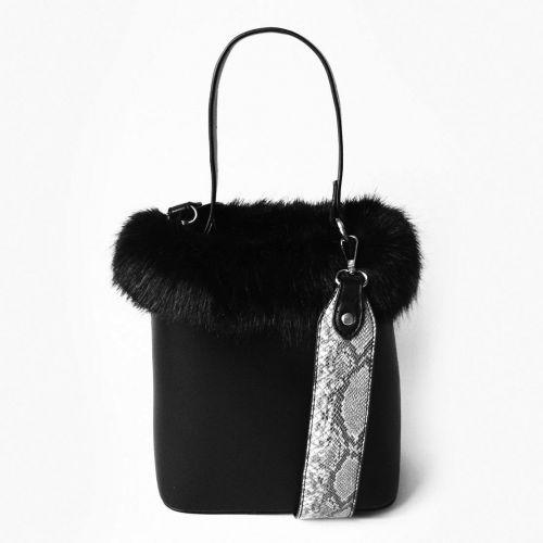cbca7278341b Молодежная черная сумка с мехом для девушки Китай Сумки кожаные ...
