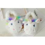 Детские домашние тапочки игрушки Единороги, 33-35 белый