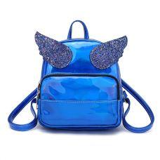 Голограммный рюкзак с крыльями синий