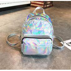 Голограммный рюкзак серебро