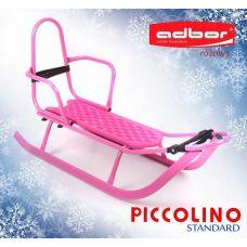 101 Санки PICCOLINO со спинкой (розовый)