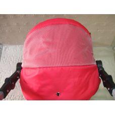 301 Кукольная коляска-трансформер 2в1 с переноской Adbor Mini Ring (красный, красный(структурный))