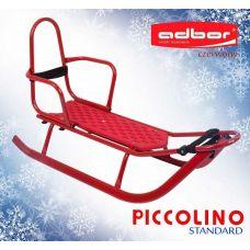 101 Санки PICCOLINO со спинкой (красный)