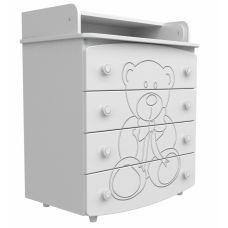 Комод-пеленатор Верес декор ведмедик білий