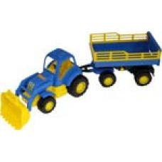 44808 Трактор Крепыш с прицепом №2 и ковшом