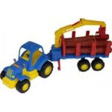 44815 Трактор Крепыш с полуприцепом-лесовозом