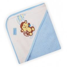Полотенце з капішоном Z-CY-18/Blue Мавпочка